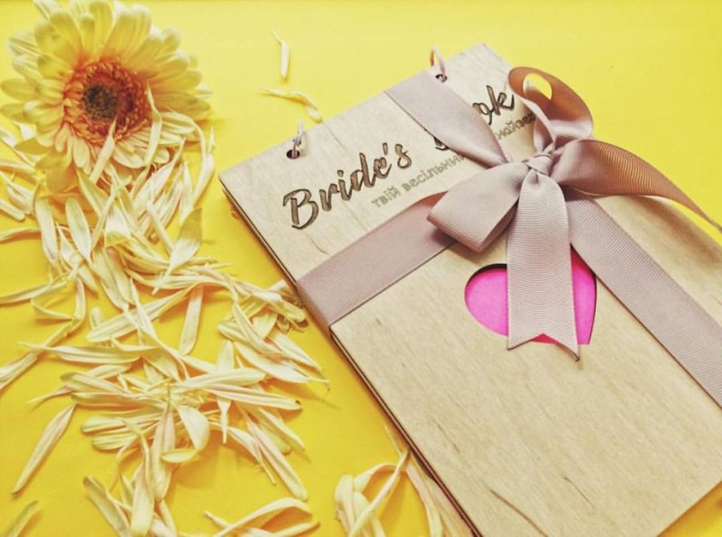 Bride`s book heart Eco